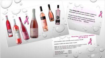 Colaborar por una buena causa con bebidas rosas