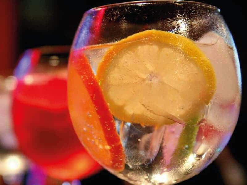 gin tonic fresas y limón