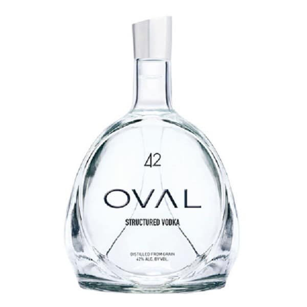 oval structured vodka 42
