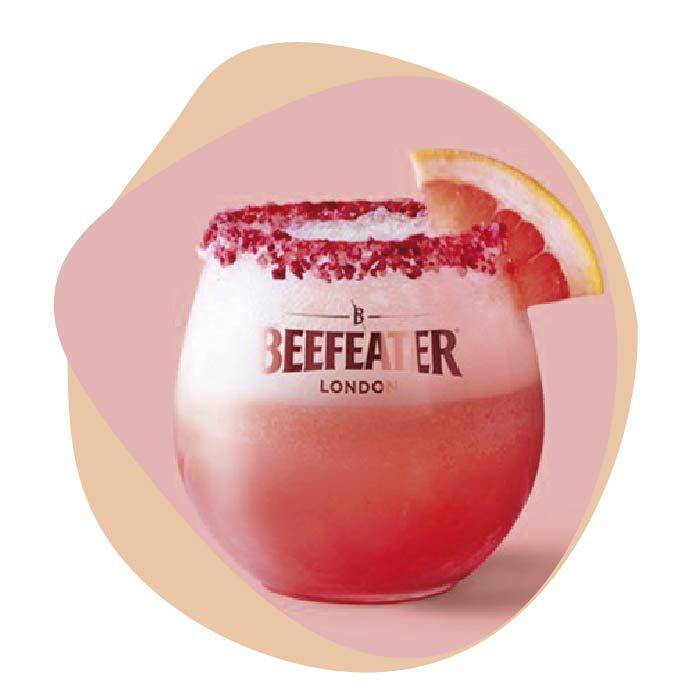 top4 cocteles con ginebra rosa flotante